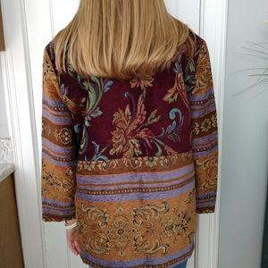 Sag Harbor floral boho tapestry jacket/ coat